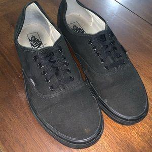 VANS Authentic Men's Black on Black Size 12